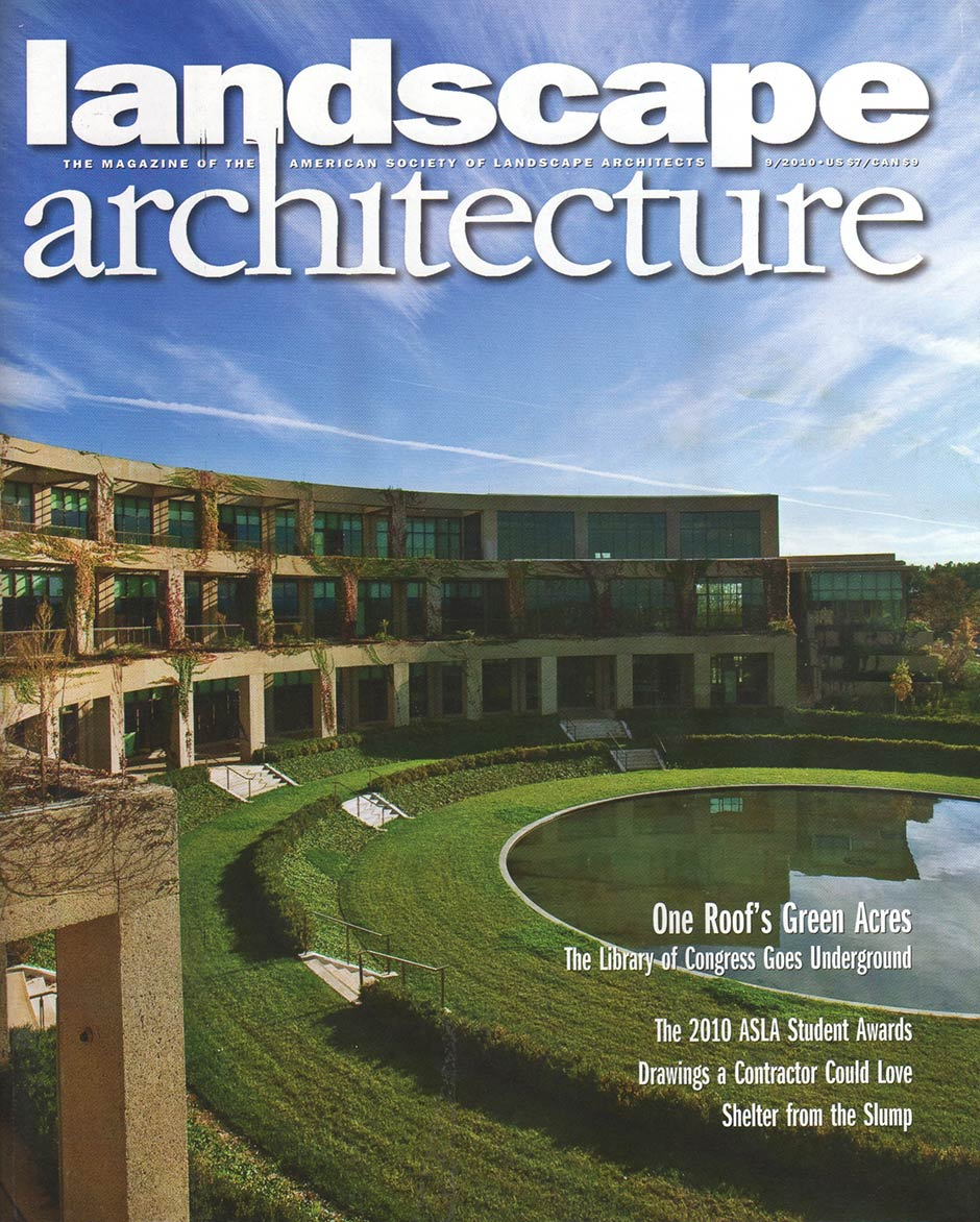 landscape architecture magazine features student national award