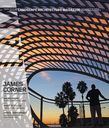 courtyard published in landscape architecture magazine lam