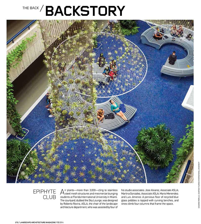 Courtyard published in landscape architecture magazine lam 20140201lamfebruary14cover skyloungelamfebruary14backstoryrobertorovira960 thecheapjerseys Choice Image